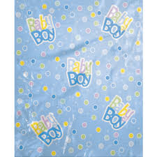 dots baby shower jumbo plastic gift bag