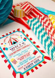 template printable backyard carnival birthday invitations with