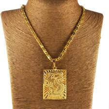 aliexpress buy wholesale deal new arrival wholesale vacuum plating 24k gold pendant necklace new 2014 men s