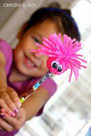 diy kids crafts crazy fun pencil toppers create it go