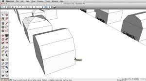 Gamble Roof Sketchup Pro 2014 Tutorial Creating A Gambrel Roof Youtube