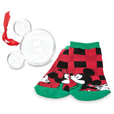 mickey and minnie mouse socks in ornament shopdisney