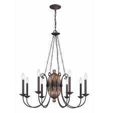 Traditional Chandeliers Progress Lighting Trestle Collection 4 Light Gilded Iron