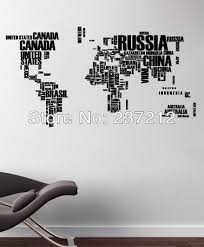 world map in words removable vinyl quote art wall sticker decal world map in words removable vinyl quote art wall sticker decal mural decor 3d wall
