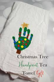 christmas tree handprint tea towel gift sweet tea u0026 saving grace