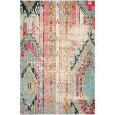 Orange And Turquoise Area Rug Southwestern Area Rugs Rugs The Home Depot