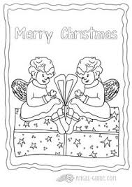angel christmas coloring picture angel choir singing 6 2