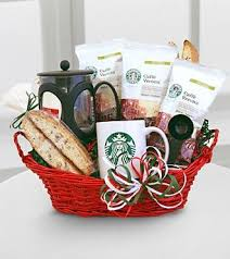 coffee baskets starbucks coffee gift basket coffee in my cup