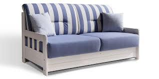 Wohnzimmer Couch G Stig Schlafsofa Campus Blau Weiss Stoff Sofa Couch Massiv Holz