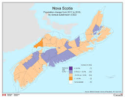 Map Of Canada Provinces Census Nova Scotia U0027s Slow Growth Second Worst In Canada The