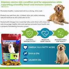 amazon com salmon oil for dogs treats all natural omega 3 6
