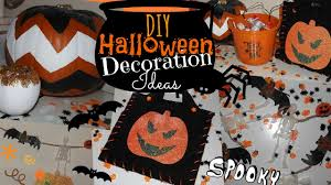 diy halloween decoration ideas chevron pumpkin spooky garland