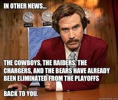 Chargers Raiders Meme - in other news the cowboys the raiders the chargers and the