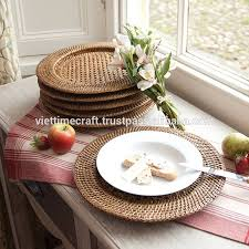 dining room rattan charger plates charger plates wholesale