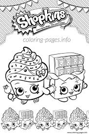 Shopkins Cupcake Queen Cheeky Chocolate Love Coloring Pages Printable