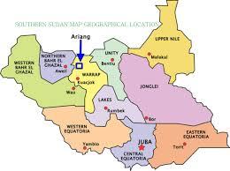 Map Of Sudan Scymi South Sudan Org