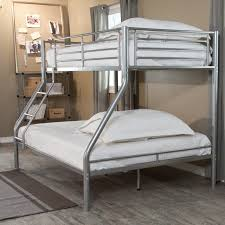 Bed Full Size Duro Wesley Twin Over Full Bunk Bed Silver Hayneedle