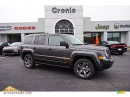 dark grey jeep patriot 2015 jeep patriot high altitude in granite crystal metallic