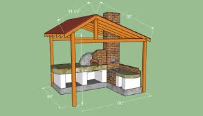 Tv Stand Plans Howtospecialist How by Building A Pizza Oven Shelter Diy Outdoor Projects Pinterest