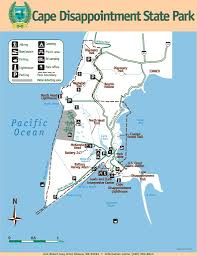 Washington State Parks Map by Cape Disappointment State Park Maplets
