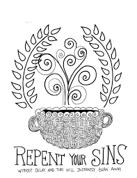 repentance is first free scripture coloring pages printable 8x10