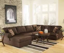 Brown Leather Couch Interior Design Ideas Furniture Brown Leather Sectional Couches With Patterned Cushiona