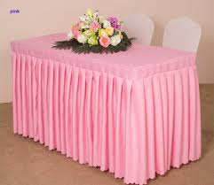 2 2 a whole piece table skirt pleated tablecloth cover for wedding