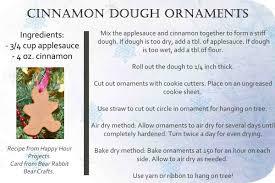 rabbit crafts cinnamon dough ornaments with free