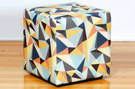 Ottomans Perth Cube Custom Retro Fabric Ottomans Custom Fabric Sizes Bespoke