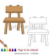 chair coloring book educate preschool kids stock vector 570810265