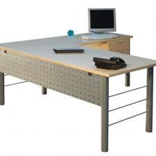 Desk Shapes Furniture Brown Woden L Shaped Office Desk With 3 Drawer