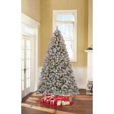 artificial frosted pre lit trees lights