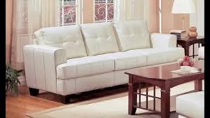 coaster samuel collection cream leather sofa youtube