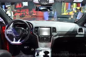 jeep grand cherokee dashboard jeep grand cherokee srt red vapor dashboard at the 2014 paris