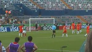 file free kick on a fifa u 17 2011 cup match of mexico