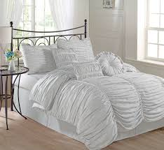 Amazon King Comforter Sets Amazon Com Chezmoi Collection 7 Piece Chic Ruched Duvet Cover