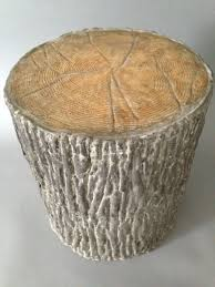 faux bois side table hand crafted concrete faux bois garden stool by 910 castings