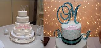 cake topper letters new high quality silver rhinestone monogram wedding cake topper