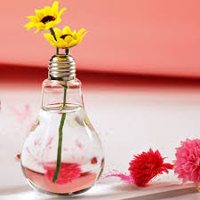 How To Decorate Pot At Home by Amazon Com Stand Light Bulb Shape Glass Vase Flower Plant