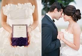purple gold and ivory wedding ideas