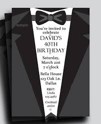 black tie party favors suit and tie tuxedo invitation printable or printed with free