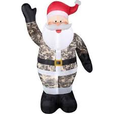 Outdoor Inflatables Airblown Outdoor Camouflage Santa Globo