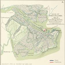 Map Of Savannah Ga Savannah In The Civil War 1861 1862