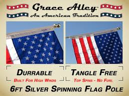Automatic Flag Pole Amazon Com Flag Pole Tangle Free Spinning Flagpole Residential