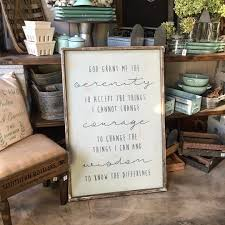 serenity prayer picture frame oversized frame wood sign or centerpiece box workshop choose