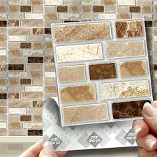 Peel Stick  Go Stone Tablet Self Adhesive Wall Tiles Kitchens - Peel and stick wall tile backsplash