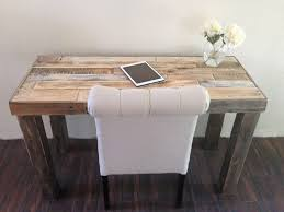 bureau rustique reclaimed wood modern rustic desk work table laptop station small