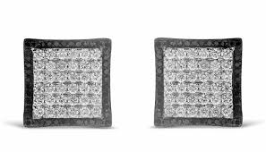 mens black diamond earrings mens black diamond stud earrings diamond stud earrings