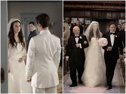blair wedding dress the gossip wedding vera wang blush pink dodgy hair