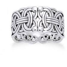 Viking Wedding Rings by Viking Braided Wedding Band Borre Knot Norse Celtic 10mm Ste